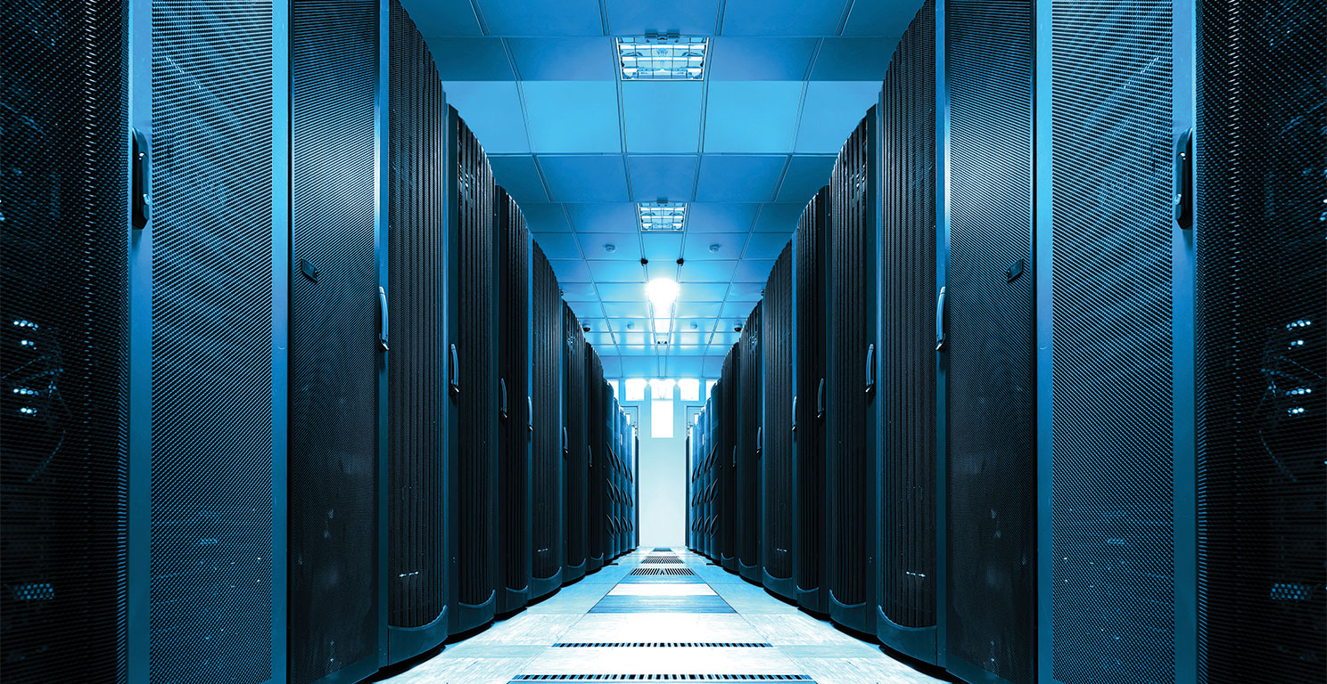 Technician maintaining BEK Cloud servers