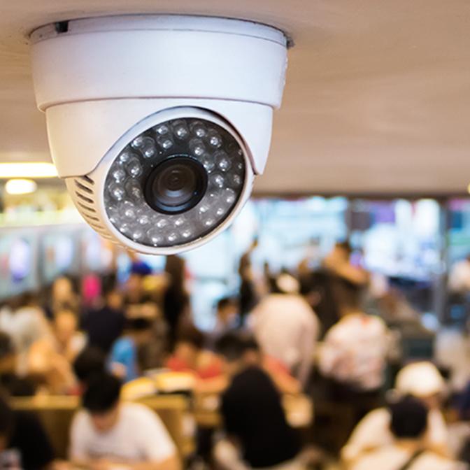 Surveillance camera in business